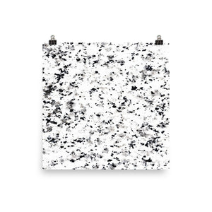 Classic marble black and white speckled print