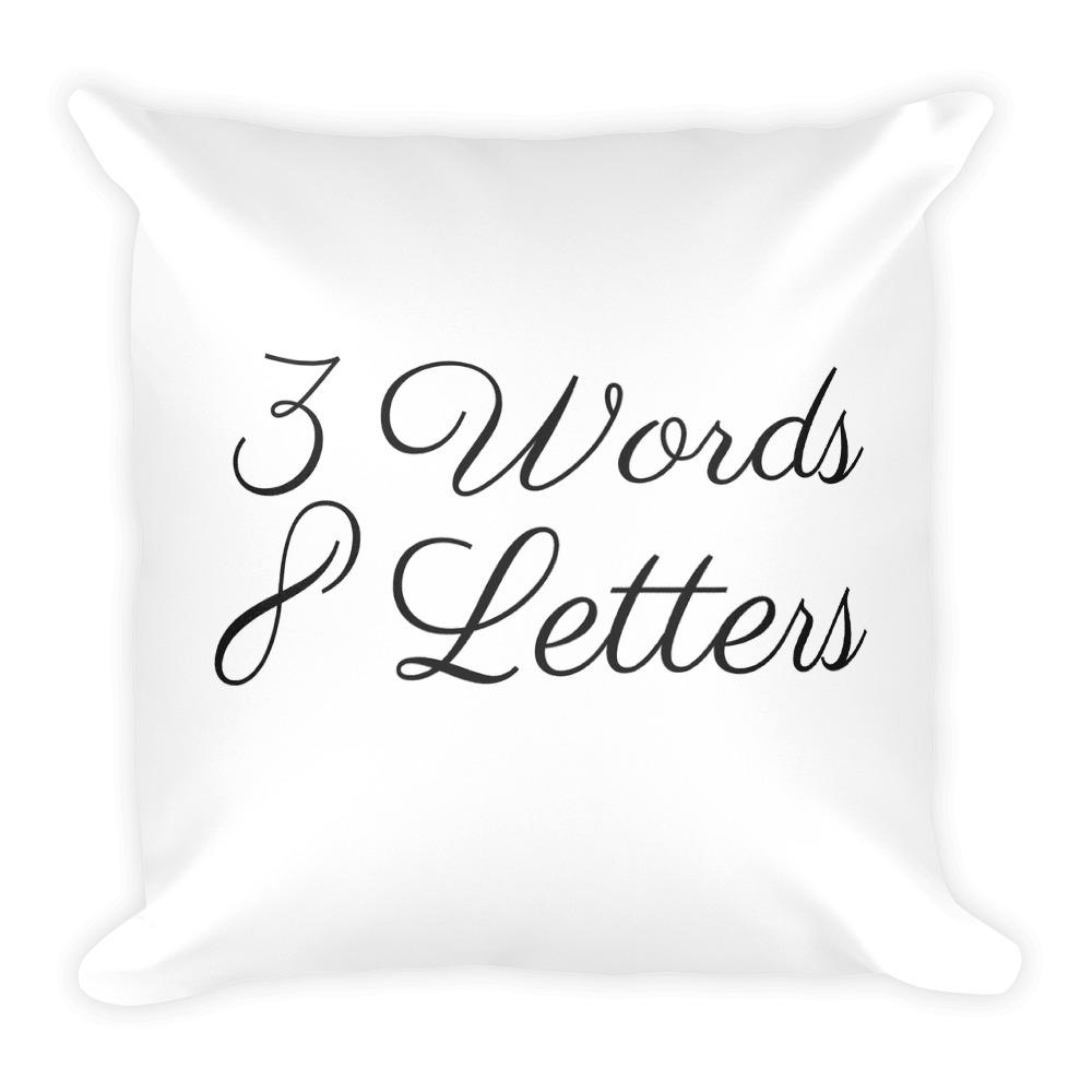 3 words 8 letters white cushion - Pretty Ventura