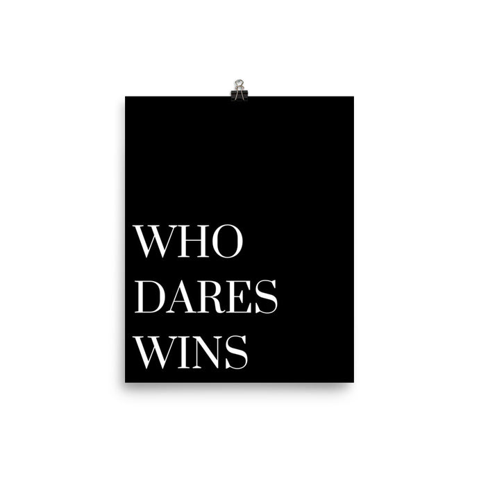 Who dares wins black print