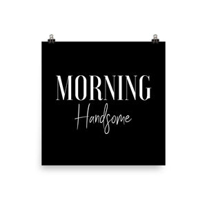 Morning handsome black print