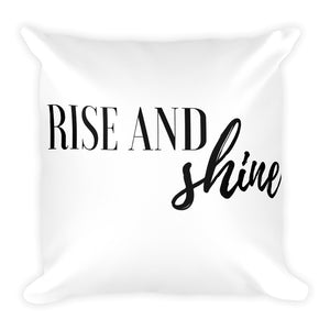 Rise and shine white cushion
