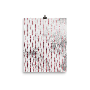 Grey and pink marble waves print