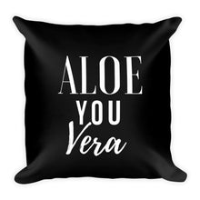 Aloe you vera black cushion