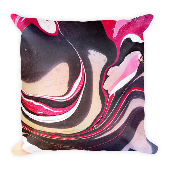 Experimental marble solid mix cushion