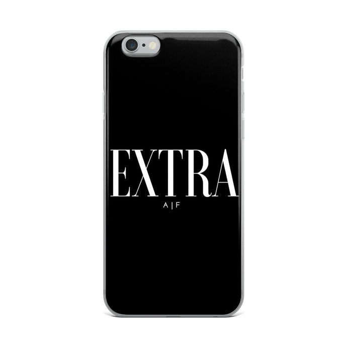 Extra A|F black iPhone Case