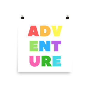 Coloured adventure print