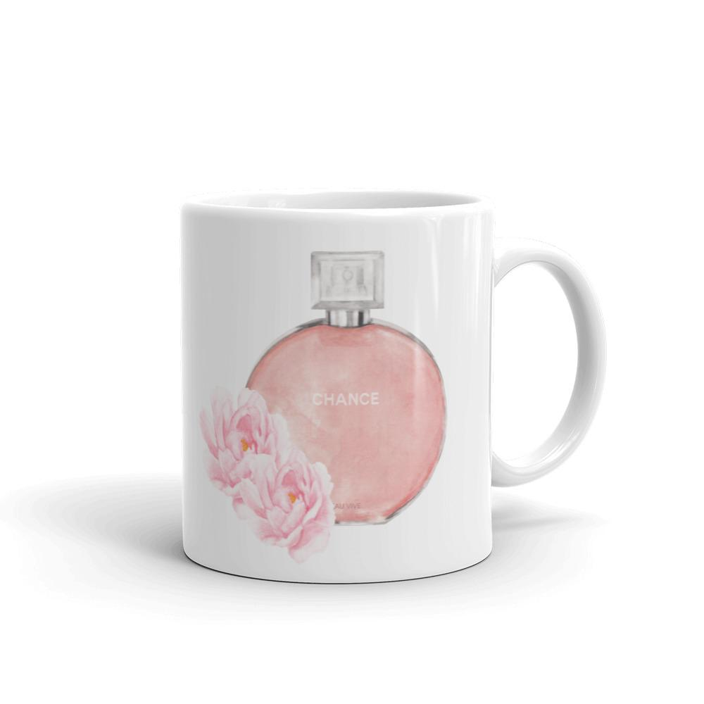 Chance perfume watercolour mug