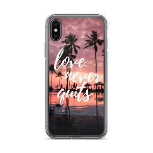 Love never quits iPhone case - Pretty Ventura