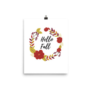 Hello fall autumn print