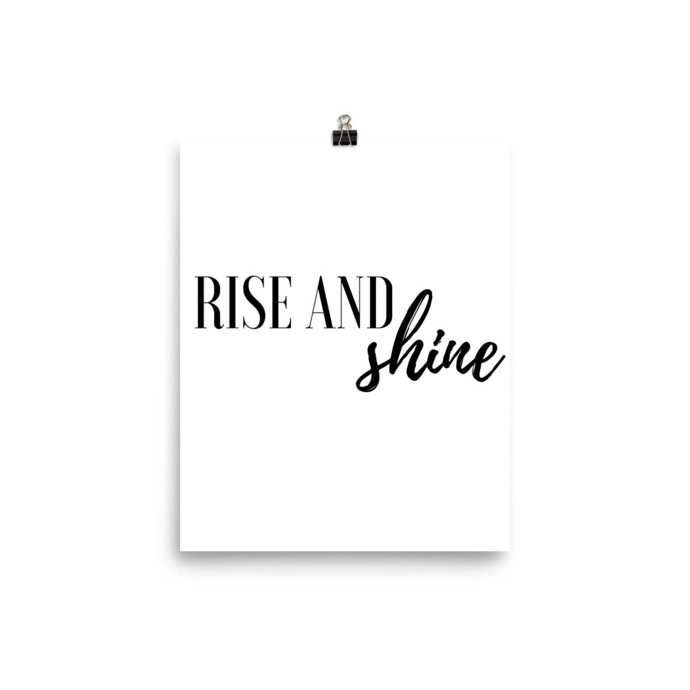 Rise and shine white print