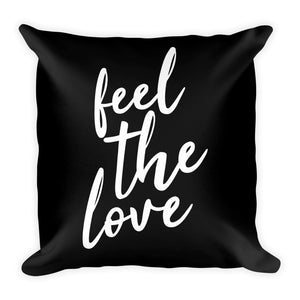 Feel the love black cushion