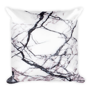 Classic marble white and black cushion