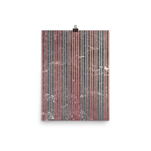 Grey and pink marble thin vertical stripe print