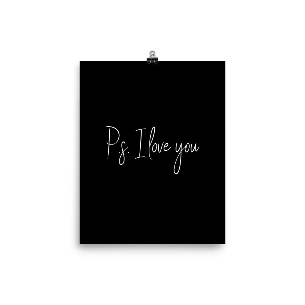 PS: I love you black print