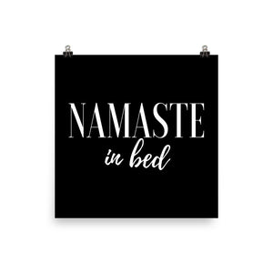 Namaste in bed black print