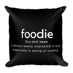 Foodie black cushion