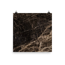 Classic marble black and gold print