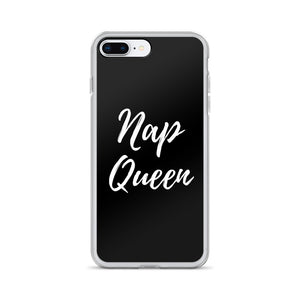 Nap queen black iPhone case - Pretty Ventura