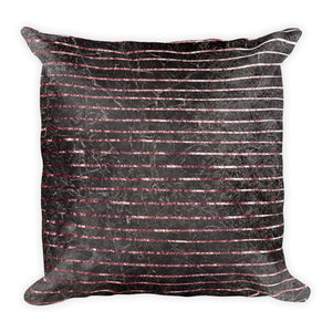 Grey and pink marble stripe cushion