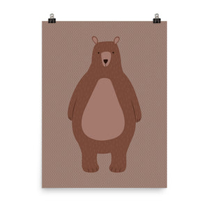 Big brown bear print