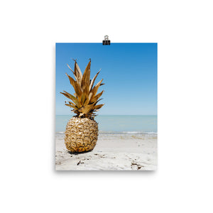 Golden pineapple print