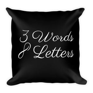3 words 8 letters black cushion - Pretty Ventura