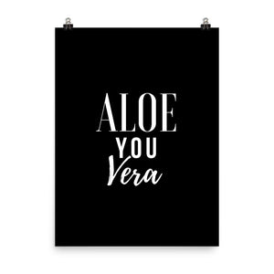 Aloe you vera black print