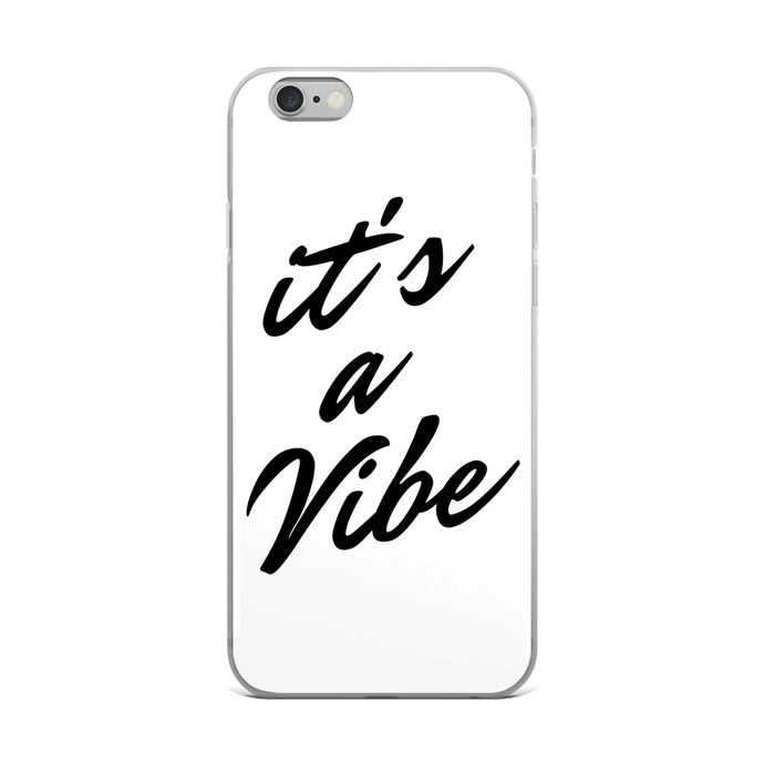 It's a vibe white iPhone Case