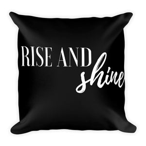 Rise and shine black cushion