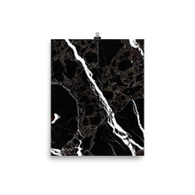 Classic marble black and white print
