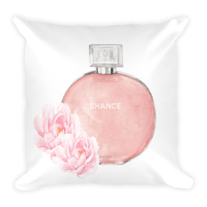 Chance perfume watercolour cushion