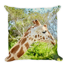 Giraffe head cushion
