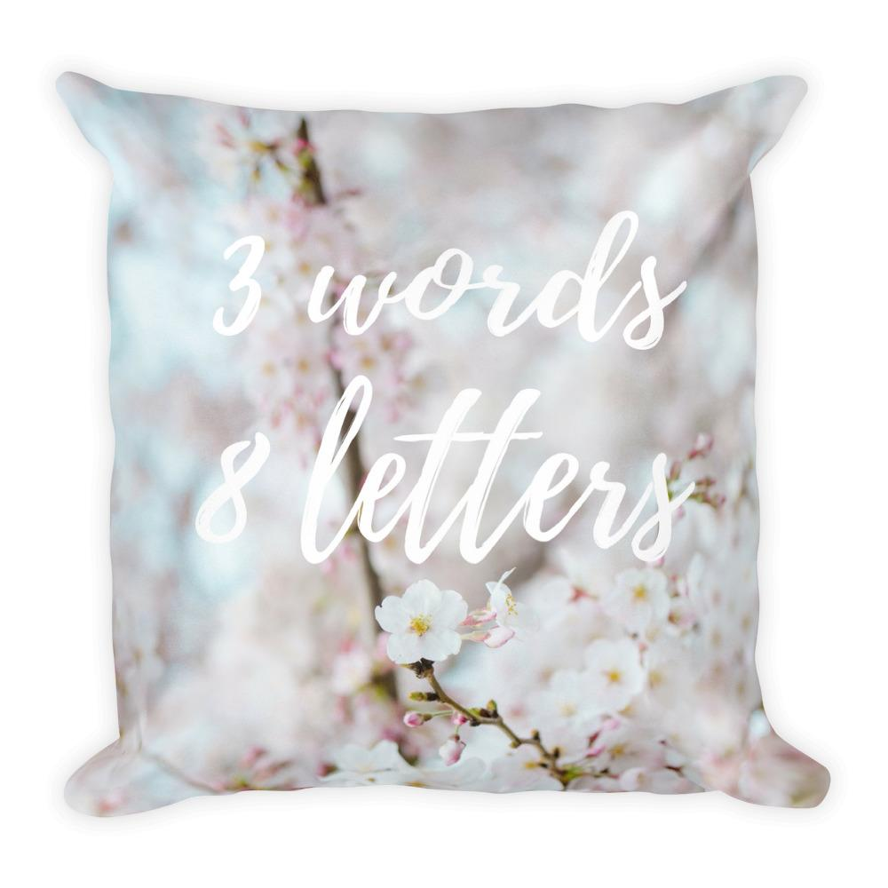 3 words 8 letters cushion - Pretty Ventura