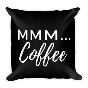 Mmm coffee black cushion