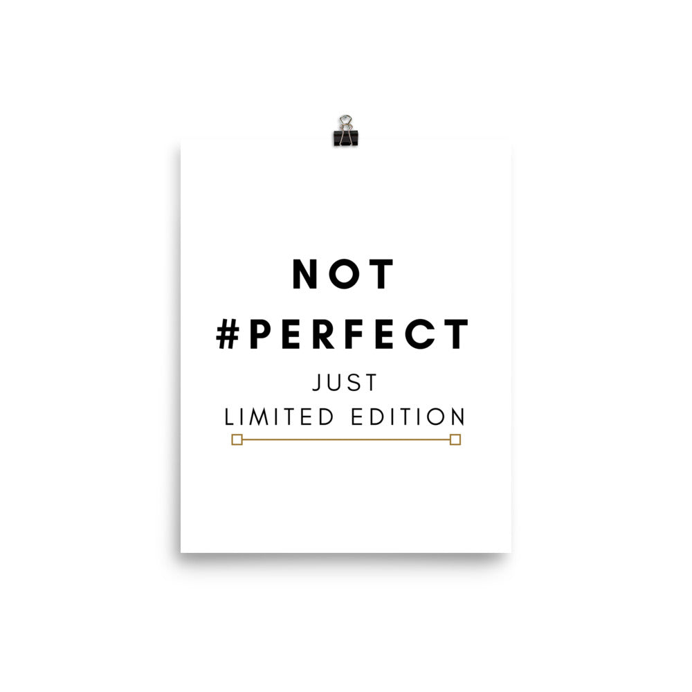 Not perfect just limited edition print - Pretty Ventura