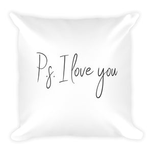 PS: I love you white cushion