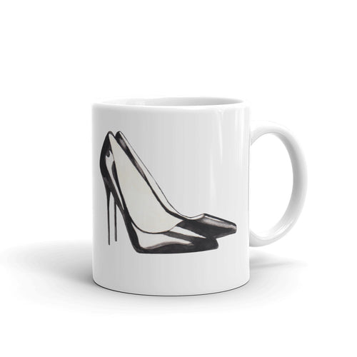 Stiletto watercolour mug