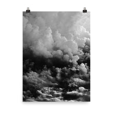 Black and white clouds print