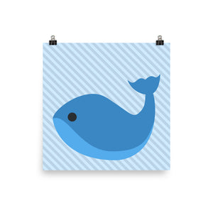 Cartoon whale print