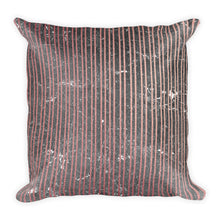 Grey and pink marble thin vertical stripe cushion