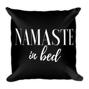 Namaste in bed black cushion