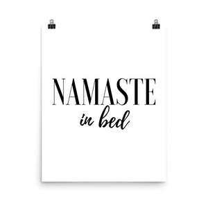 Namaste in bed white print
