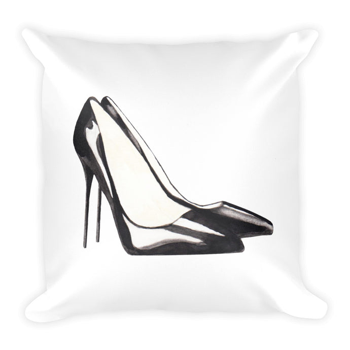 Stiletto watercolour cushion