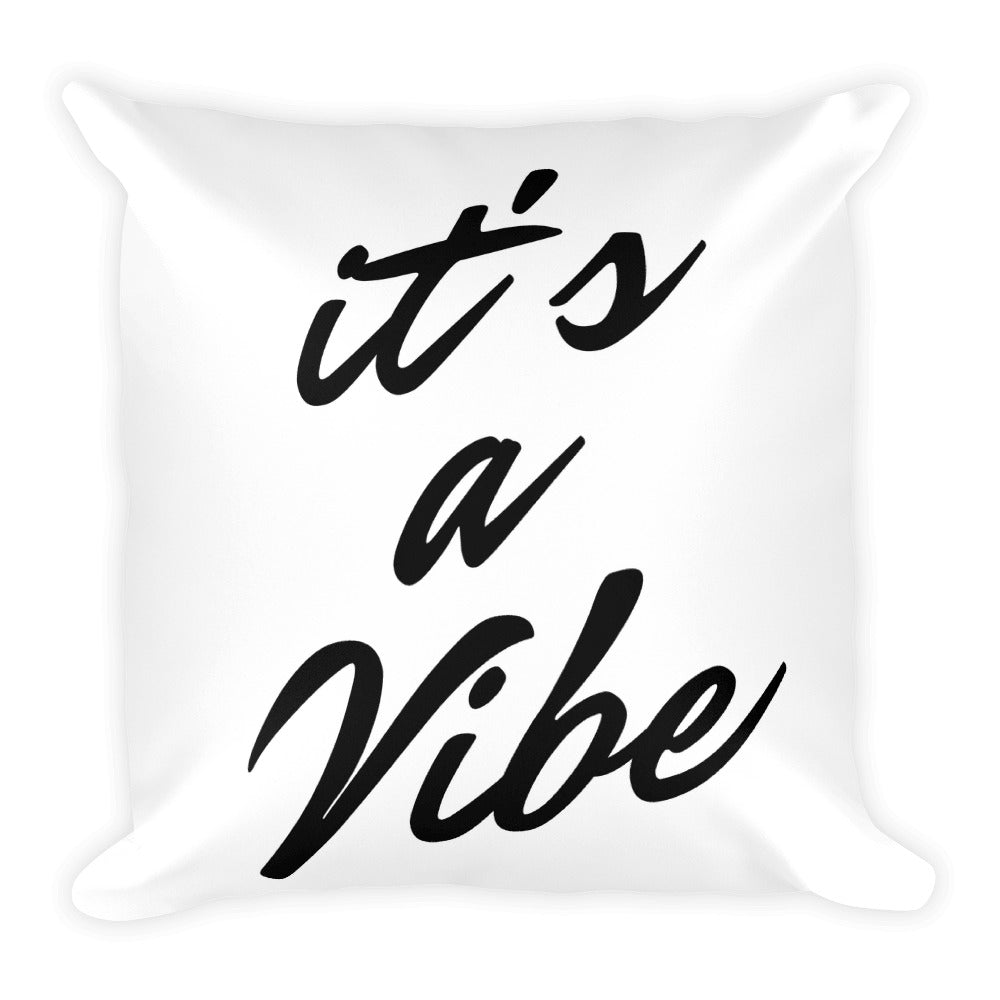 It's a vibe white cushion