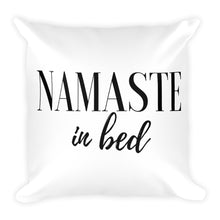 Namaste in bed white cushion