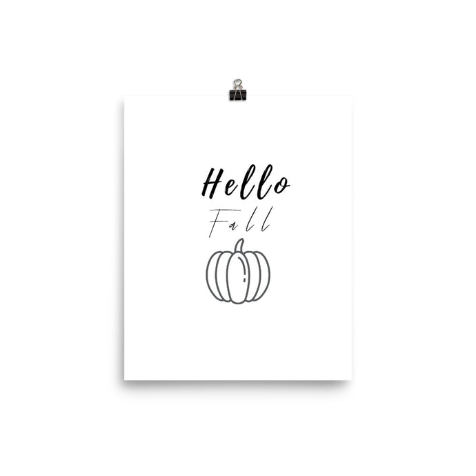 Hello fall words print