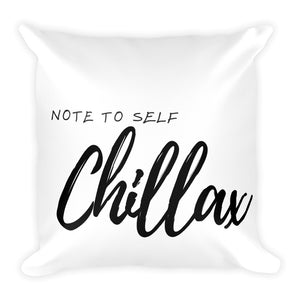 Note to self chillax white cushion