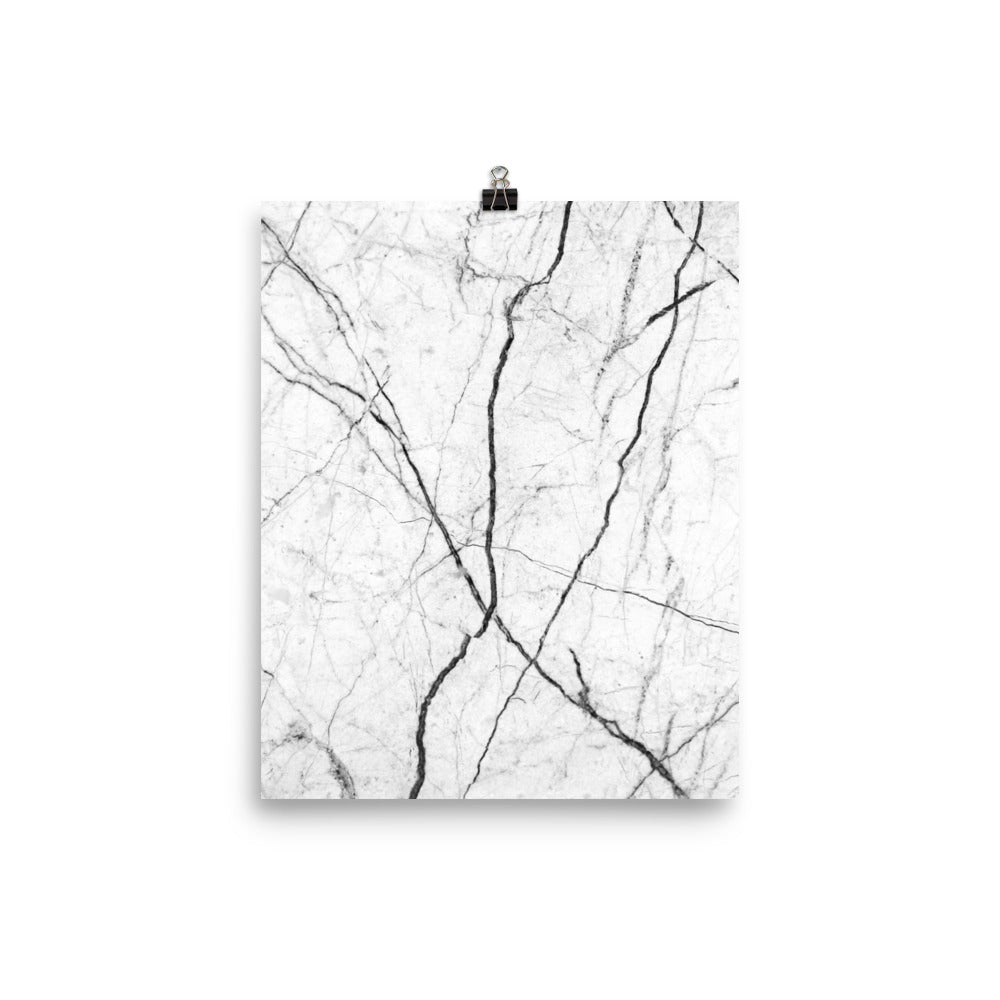 Classic marble white print