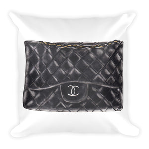 Black C bag watercolour cushion