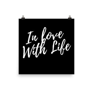 In love with life black print - Pretty Ventura